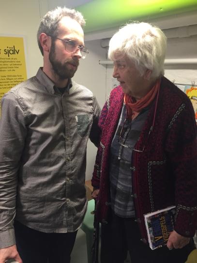 Martin Lindell i samtal med Elsa-Karin Boestad-Nilsson.