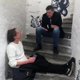 Niklas Malmqvist och Andreas Tadic har gemensamt att båda har en bakgrund i demoscenen och skapat spel på King. Malmqvist har även gjort spel till CD-i och var med på Acnes spelsatsning.