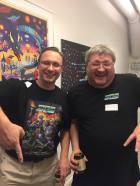 """Christian Björkqvist och Ronny """"Ron"""" Nordqvist utgör duon Software of Sweden som skapat åtskilliga spel på C64, Amiga, PC och andra plattformar. De är aktuella med en samlingscartridge på C64: http://mediapalatset.com/commodore/tillbehor/software-of-sweden-megacart-cart.html"""