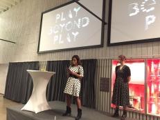 Paula Fenjima Manrique talade om uppropet #vispelarintemed och uppmanade till förändring.