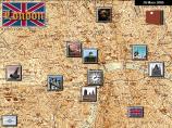 På kartan väljer spelaren jobb, hotell eller att resa vidare.