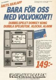 Bergsala var finurliga. För att få en ny målgrupp att upptäcka Game & Watch genomfördes en kampanj för de som hade Volvo-kortet inför julen 1982.