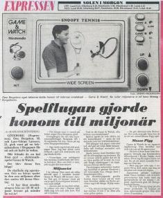 Hösten 1982 berättade Owe Bergsten om sin historia hur han upptäckte Game & Watch och försäljningssuccén som följde för Expressen.