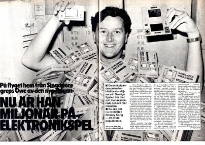 Owe intervjuades av tidningen Lektyr 1982 om framgångarna för Game & Watch och avslöjade att det blir ett svenskt mästerskap i Donkey Kong.