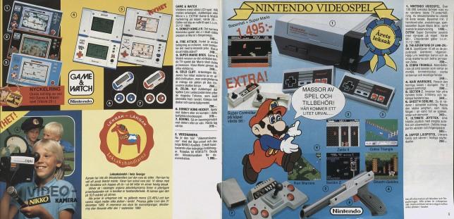 Att NES blev årets leksak 1989 stärkte bara allt som hade med Nintendo att göra. Leksakslandet gav åter stort utrymme för Game & Watch i sin katalog 1989.