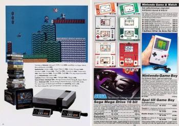 NK gav en helsida åt Nintendo i julkatalogen 1989 och tyngdpunkt på Super Mario, men det syns några Game & Watch i spelstapeln. I Hobbex katalog 1990 får Game & Watch lika mycket utrymme som Game Boy och mer än nyheten Mega Drive.