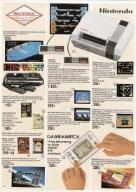 Stor & Liten satsade mer på hemdatorer och klämde in tv-spelen på en sida i sin katalog 1986. Trotjänaren Game & Watch var ett givet inslag.