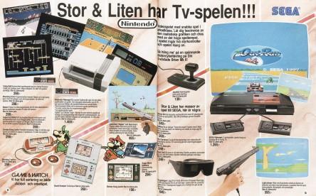 Tv-spelen tog snabbt marknadsandelar. Stor & Liten anpassade sig kvickt och tog även in Master System samt ägnade dubbelt så många sidor åt tv-spel i julkatalogen 1987.