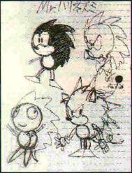 Tidiga sketcher av Naoto Oshima.